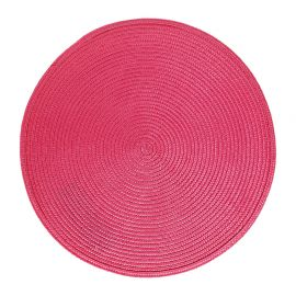 Set de table tressé rond fuchsia D 38cm