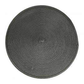 Set de table tressé rond gris D 38cm
