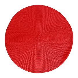 Set de table tressé rond rouge D 38cm