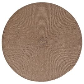 Set de table tressé rond taupe D 38cm