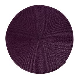 Set de table tressé rond violet D 38cm