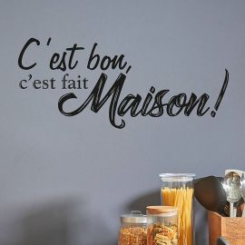 Sticker citation fait maison 70x20cm