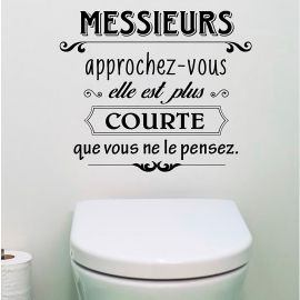Sticker citation messieurs 50x70cm
