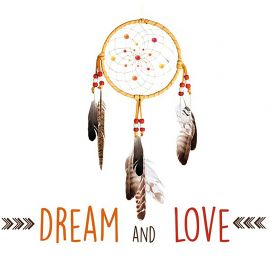 Sticker DREAM & LOVE 50x70cm