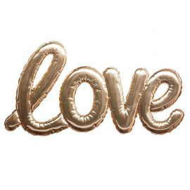 Sticker mural ballon love or 47.5x24.5cm