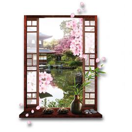 Sticker trompe l'oeil JAPON 50x70cm