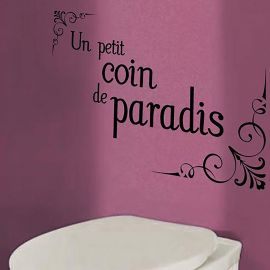 Sticker WC coin de paradis 50x70cm