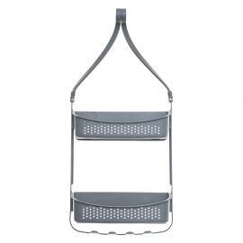 Support de douche souple multi-accroches gris 31.5x10x70cm