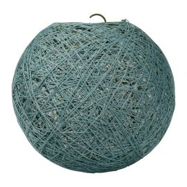 Suspension boule aqua D 30cm