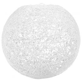 Suspension boule blanche 30cm