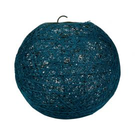 Suspension boule bleu canard D 20cm