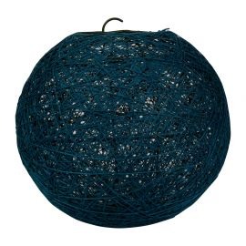 Suspension boule bleu canard D 30cm