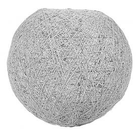 Suspension boule gris clair 30cm