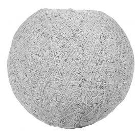 Suspension boule gris clair D 20cm