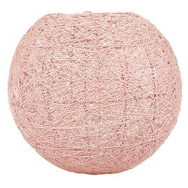 Suspension boule rose 30cm