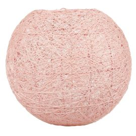 Suspension boule rose D 20cm