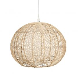 Suspension boule rotin 38x32cm - ATMOSPHERA