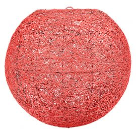 Suspension boule rouge 30cm