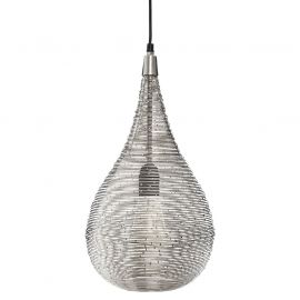 Suspension KIRU goutte striée chic contemporaine  H 43cm