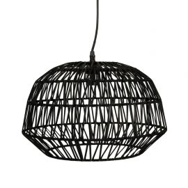 Suspension rotin noire 38.5x38.5x29.5cm