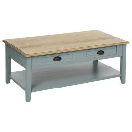 Table basse 4 tiroirs grise 110x60x45cm