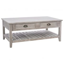 Table basse Campagne 2 tiroirs 110x45x60cm - ATMOSPHERA