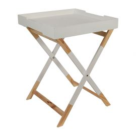 Table plateau HEDRA blanche 45x59.5x45cm