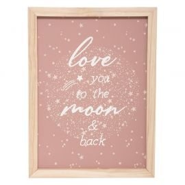 Tableau LOVE YOU TO THE MOON 30x40cm