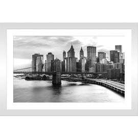 Tableau photo noir et blanc New York 30x20cm