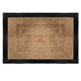 Tapis jute bords noirs 120x170cm