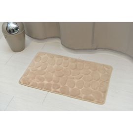 Tapis microfibre galets taupe 45x75cm