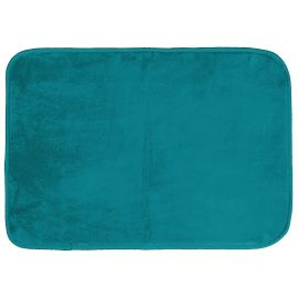 Tapis rectangle LOUNA velours bleu lagon 120x170cm