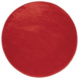 Tapis rond velours polyester LOUNA rouge D 90cm
