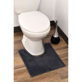 Tapis WC polyester anthracite 45x50cm