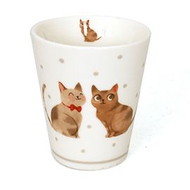 Tasse chat porcelaine 12.5cl