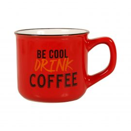 Tasse chope coffee rouge H 10cm