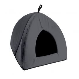 Tente pour chat polyester anthracite 35x38cm
