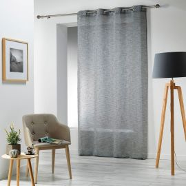 Voilage à œillets CARLIN polyester anthracite 140x240cm